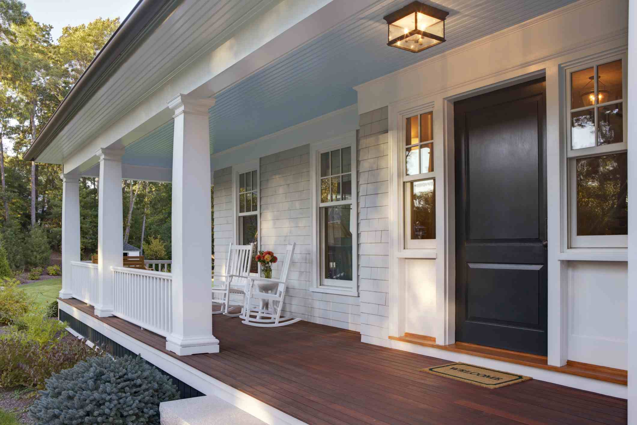 Black Front Door Paint Color | Sherwin-Williams Domino
