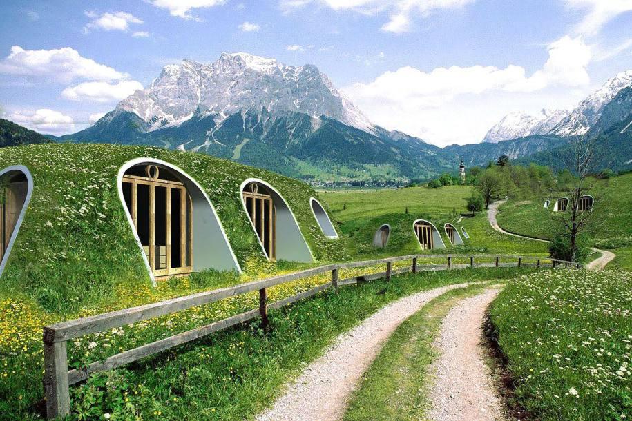 """Green Magic """"Hobbit"""" homes"""