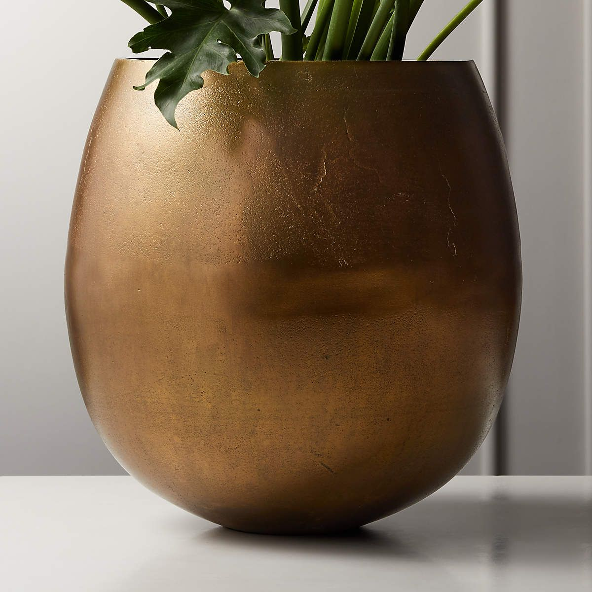 Large Brass Planter