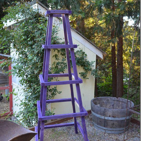 diy decorative ladder out of bamboo poles backyard x.htm 10 diy garden trellises that cost less than  20  10 diy garden trellises that cost less