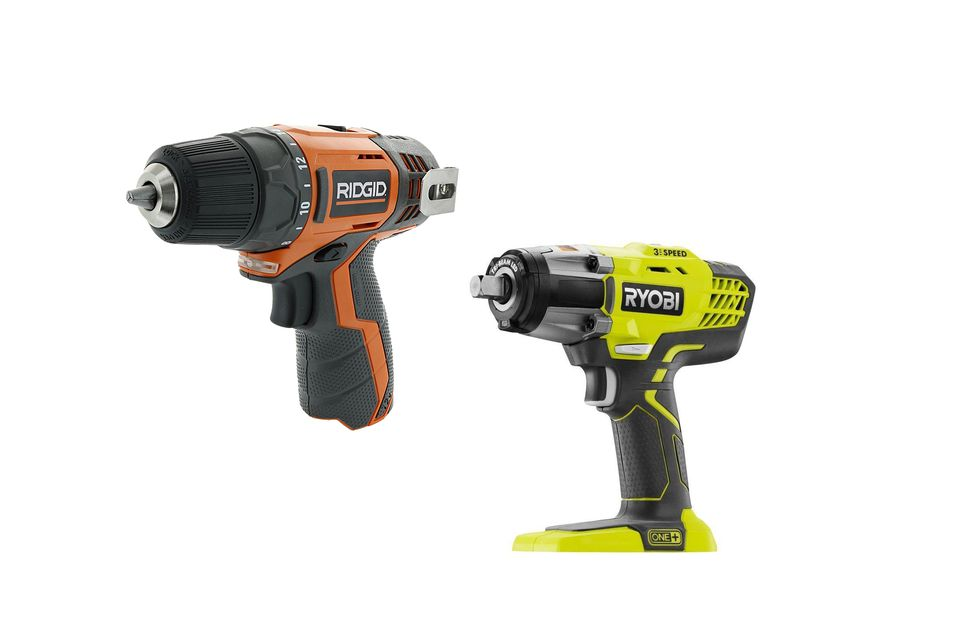 Rigid and Ryobi power tools