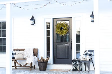 Bright White Rustic Porch