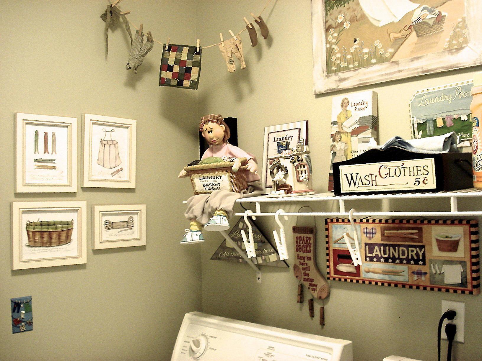 Create a Clothesline Themed Laundry Room