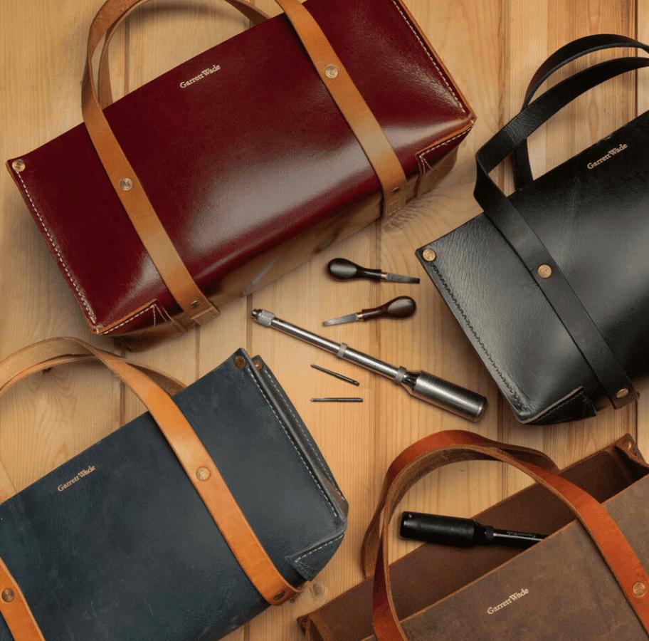 Garrett Wade Portable Leather Tool Bag