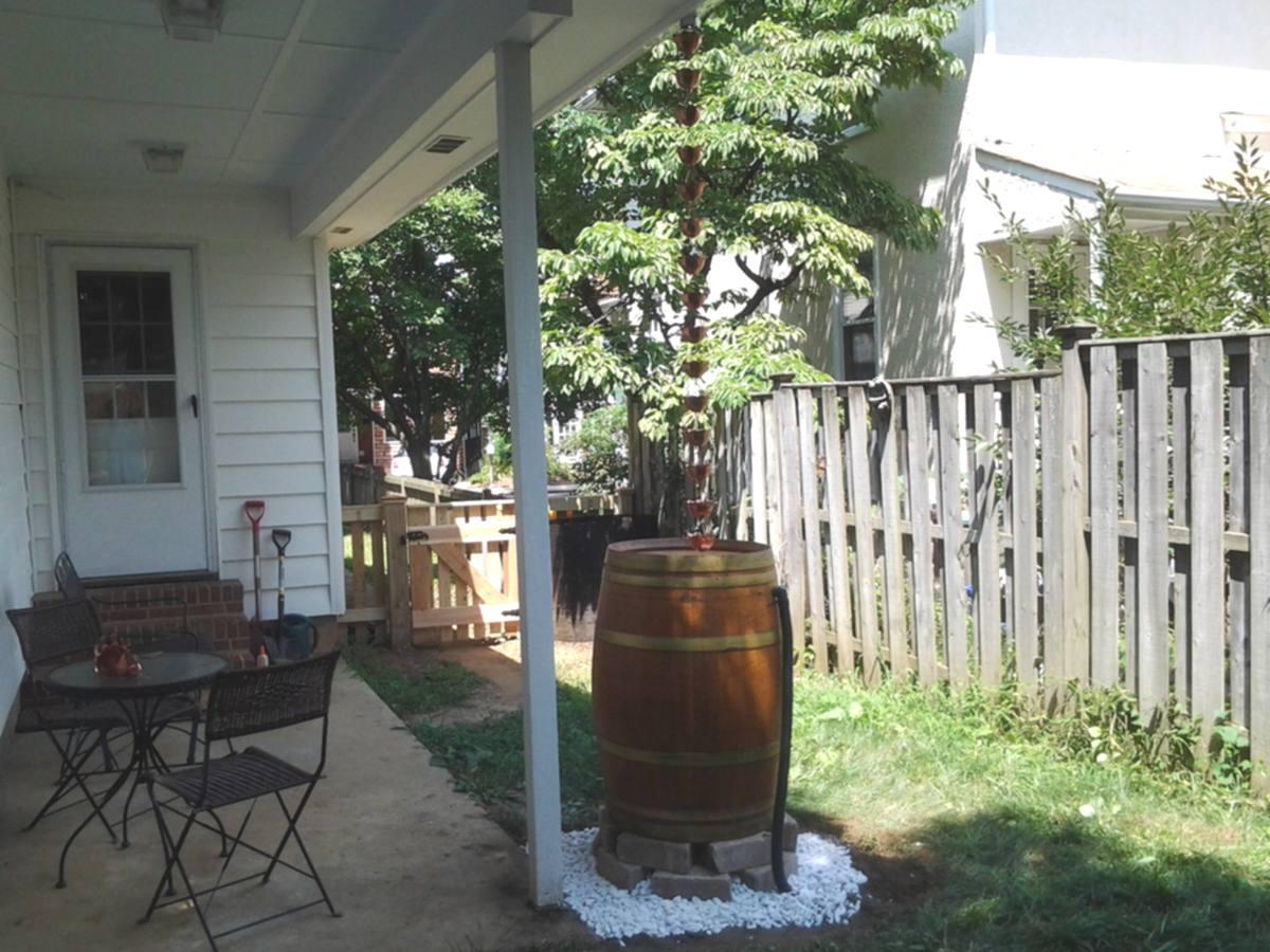 Rain Chain Cups and Barrel