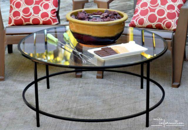 DIY outdoor patio decor - smore maker, tabletop fire bowl