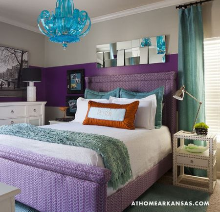 Gorgeous Purple And Blue Bedroom