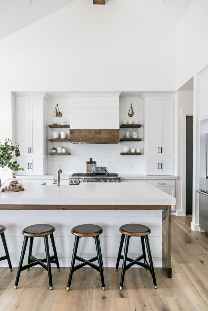 19 Ways to Decorate With Shiplap Ideas For Kitchen Bar Shiplap on stone kitchen, decorating with dark cabinets kitchen, fixer upper paint colors kitchen, paneling kitchen, square kitchen, seaside kitchen, board and batten kitchen, flooring kitchen, soffit kitchen, shabby chic kitchen, wood kitchen, farmhouse kitchen,