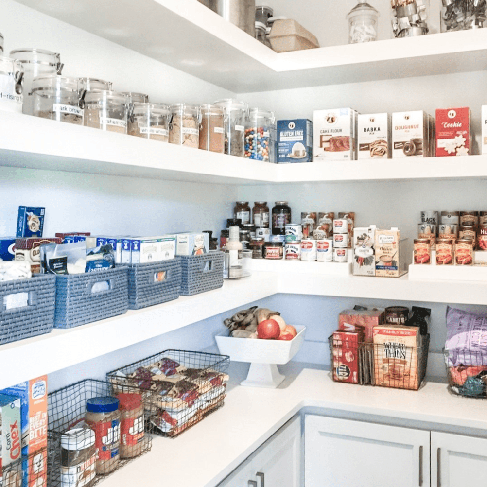 Lower pantry cabinets
