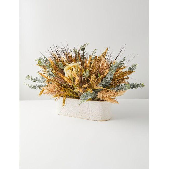 Artificial Wheat And Grass Flower Arrangement