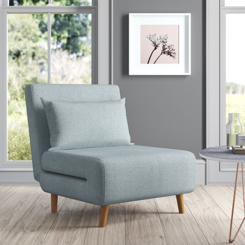Gold Flamingo Teen Clarissa Pillow Back Futon Chair