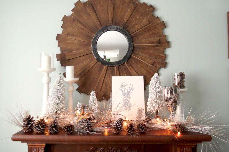28 Best Winter Mantel Decor Ideas