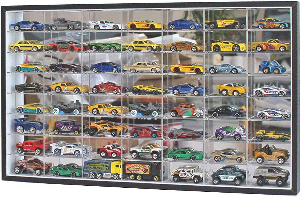 DisplayGifts 1:64 Scale Toy Cars Diecast Display Case
