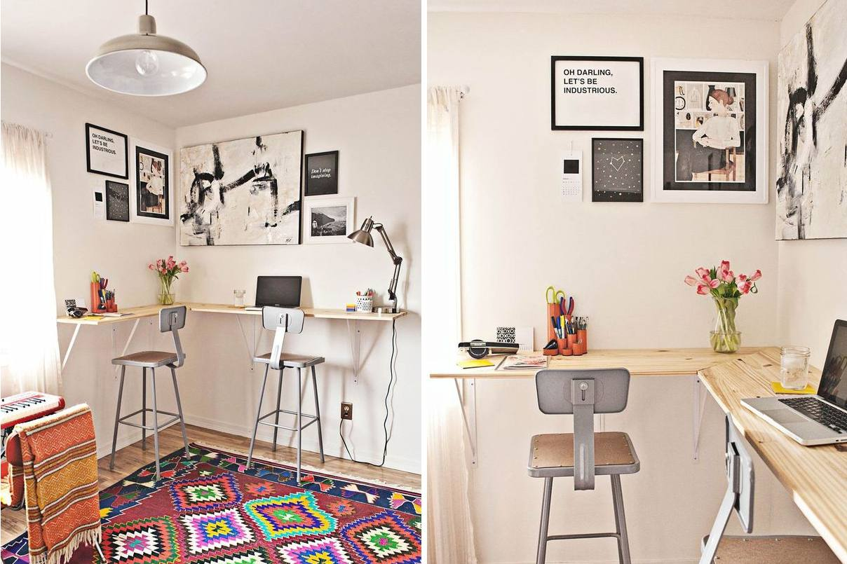 21 small desk ideas for small spaces - Desk In Living Room