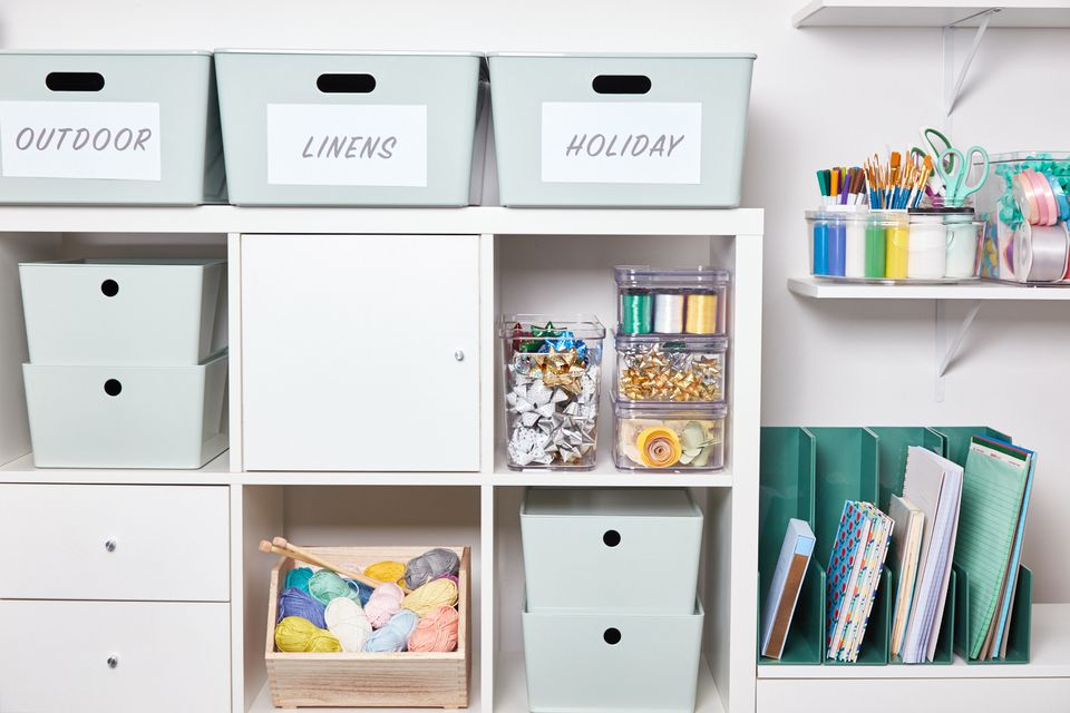 Organized plastic storage containers