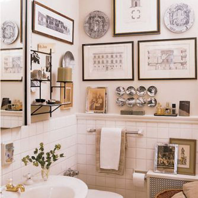 9 Ways To Display Art In Bathrooms