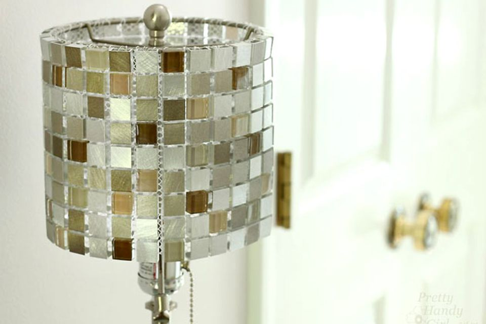 DIY tile lampshade