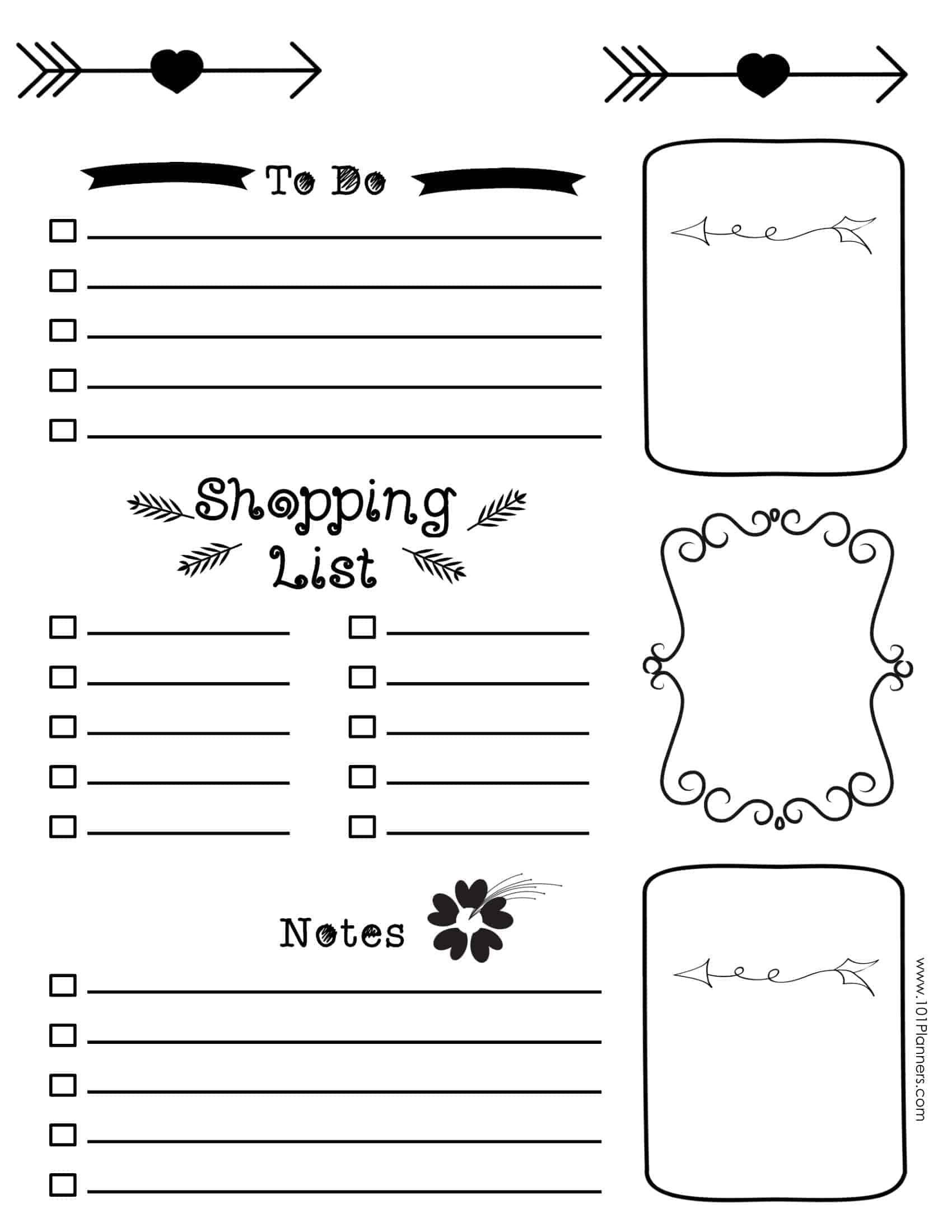 easy bullet journal layout