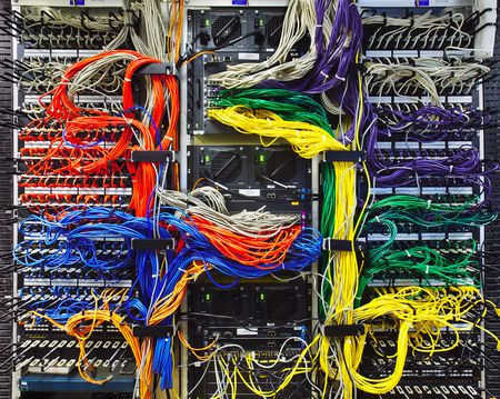 Electrical wiring size type and installation colorful computer wires in server room greentooth Images