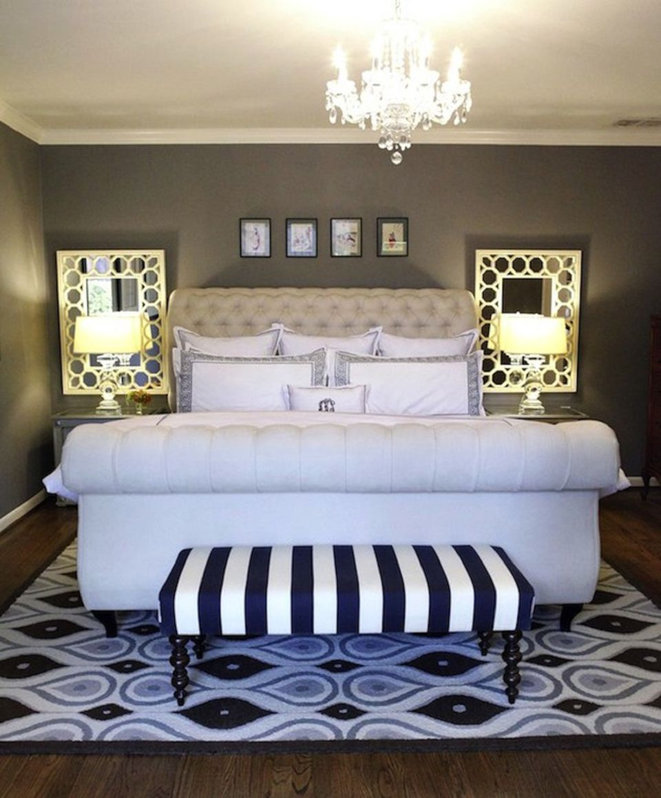 Bedroom Benches Images Bedroom Wardrobe Design Ideas Bedroom Ideas Lilac Bedroom Black Chandelier: 25 Hollywood Regency Style Bedroom Ideas