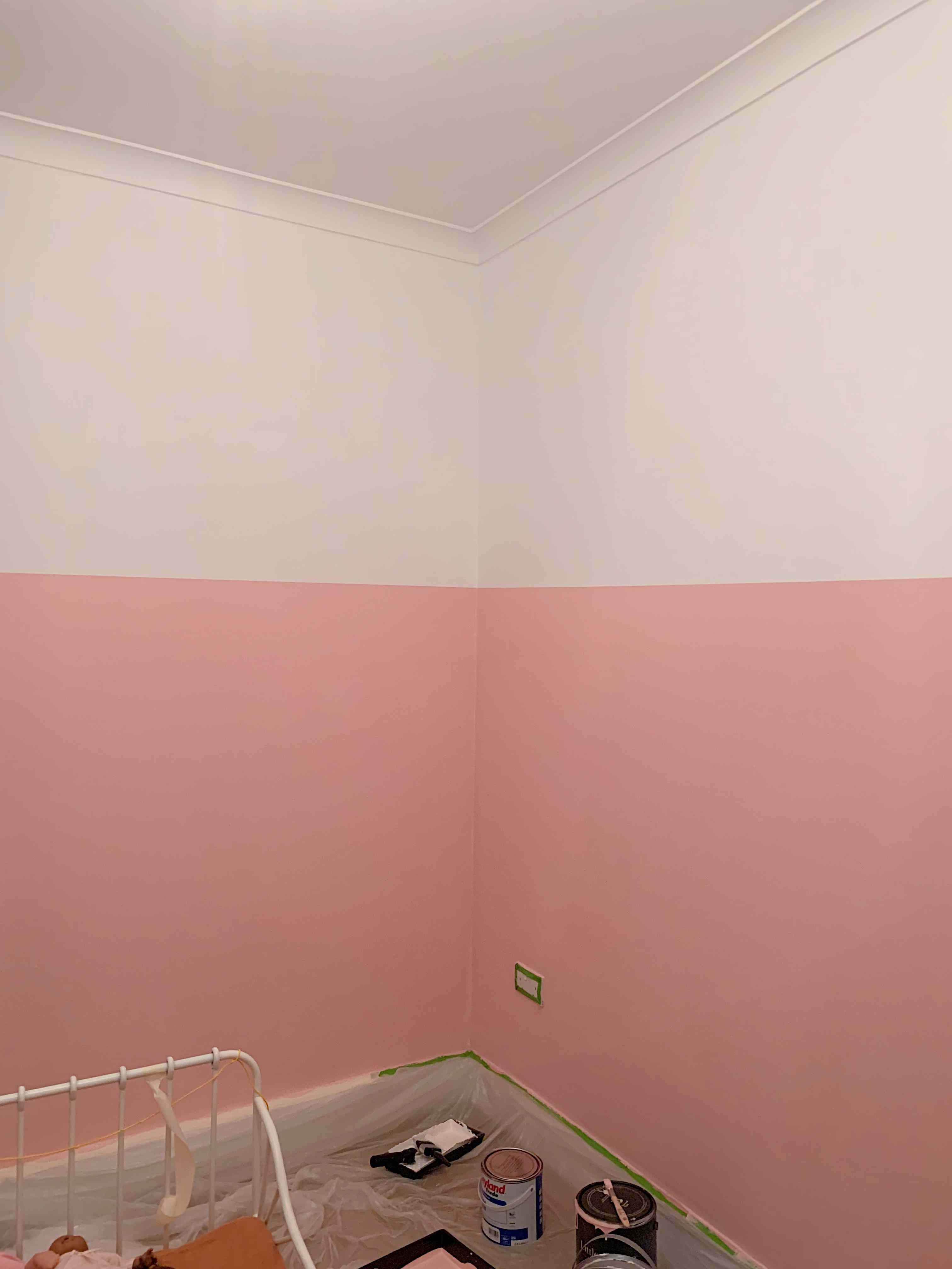 3/4 painted wall