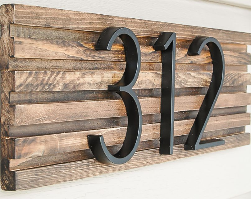 A modern house number