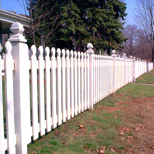 The rounded tip makes the difference. A modified French gothic picket fence.
