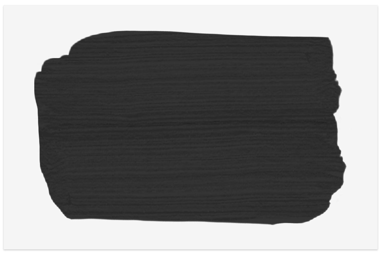 Benjamin Moore Jet Black paint swatch
