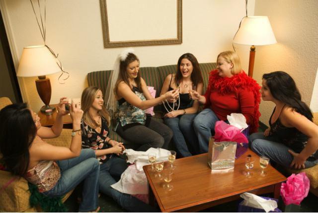 Women at bachelorette party
