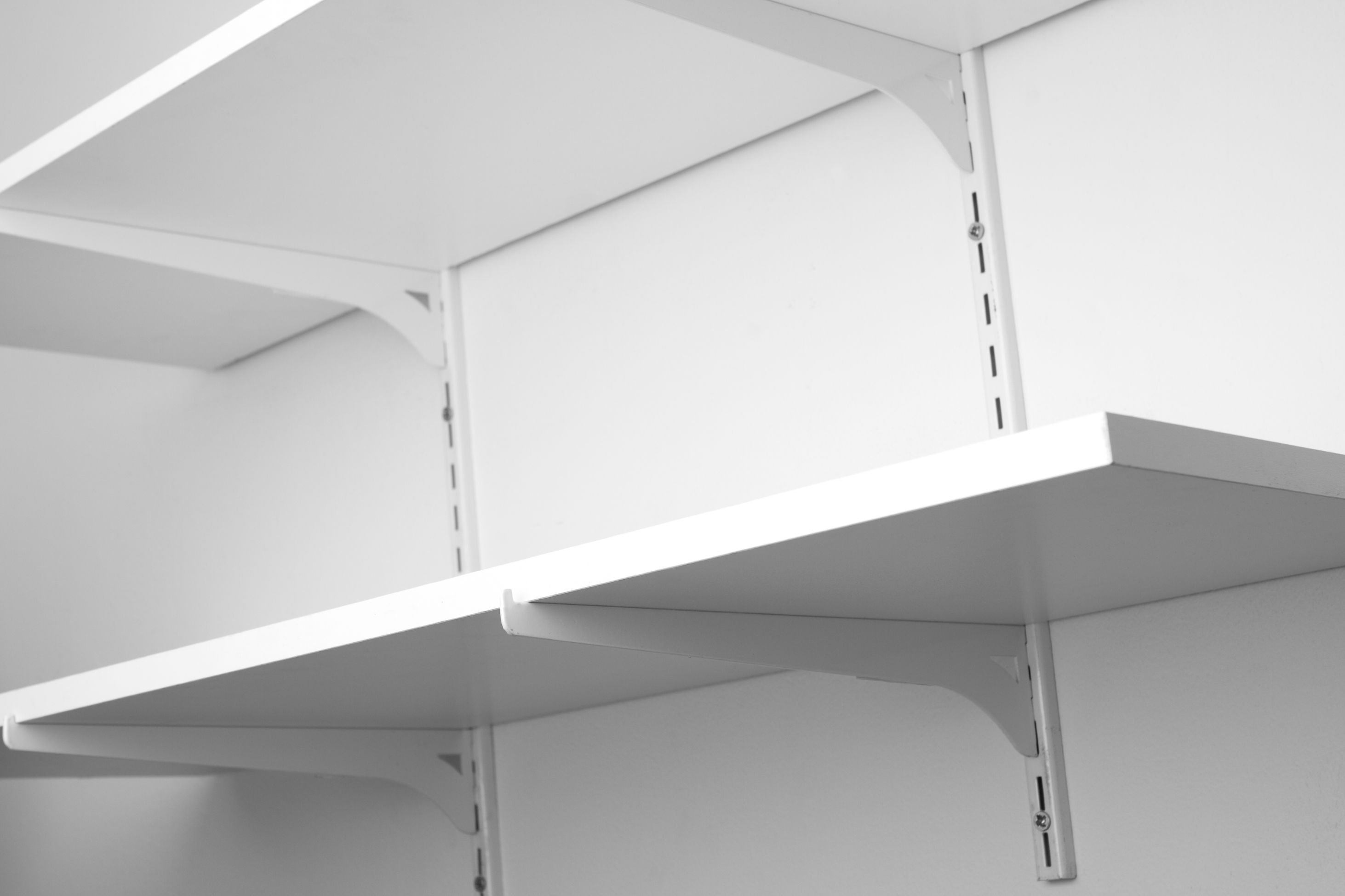 White Twin Slot Shelving Book End Accessories For Shelving Systems