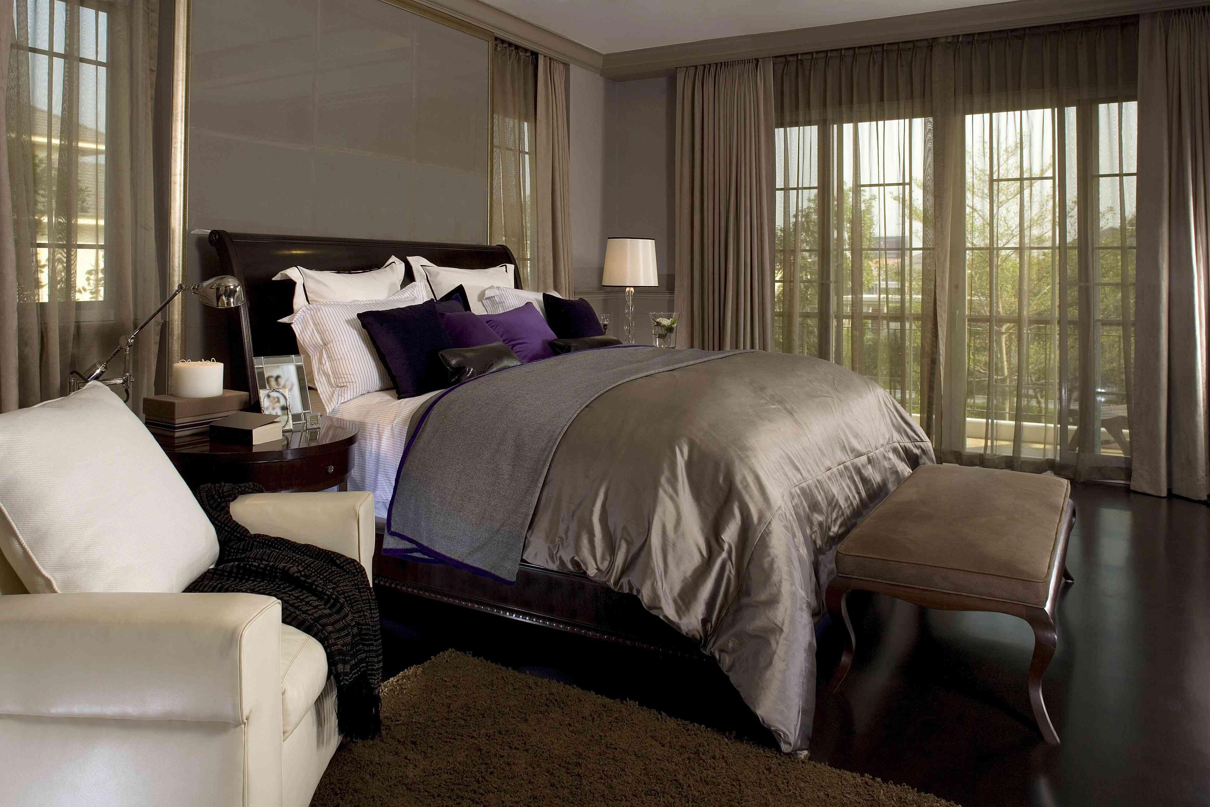 Glamorous Brown Bedroom.