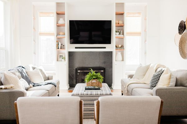 A neat and bright living room