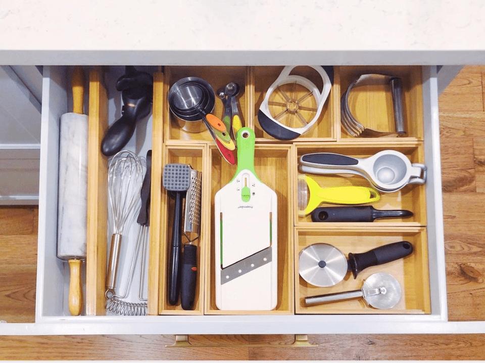 drawer dividers for kitchen utensils