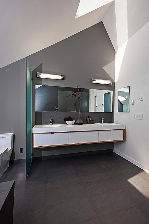 gray contemporary bathroom