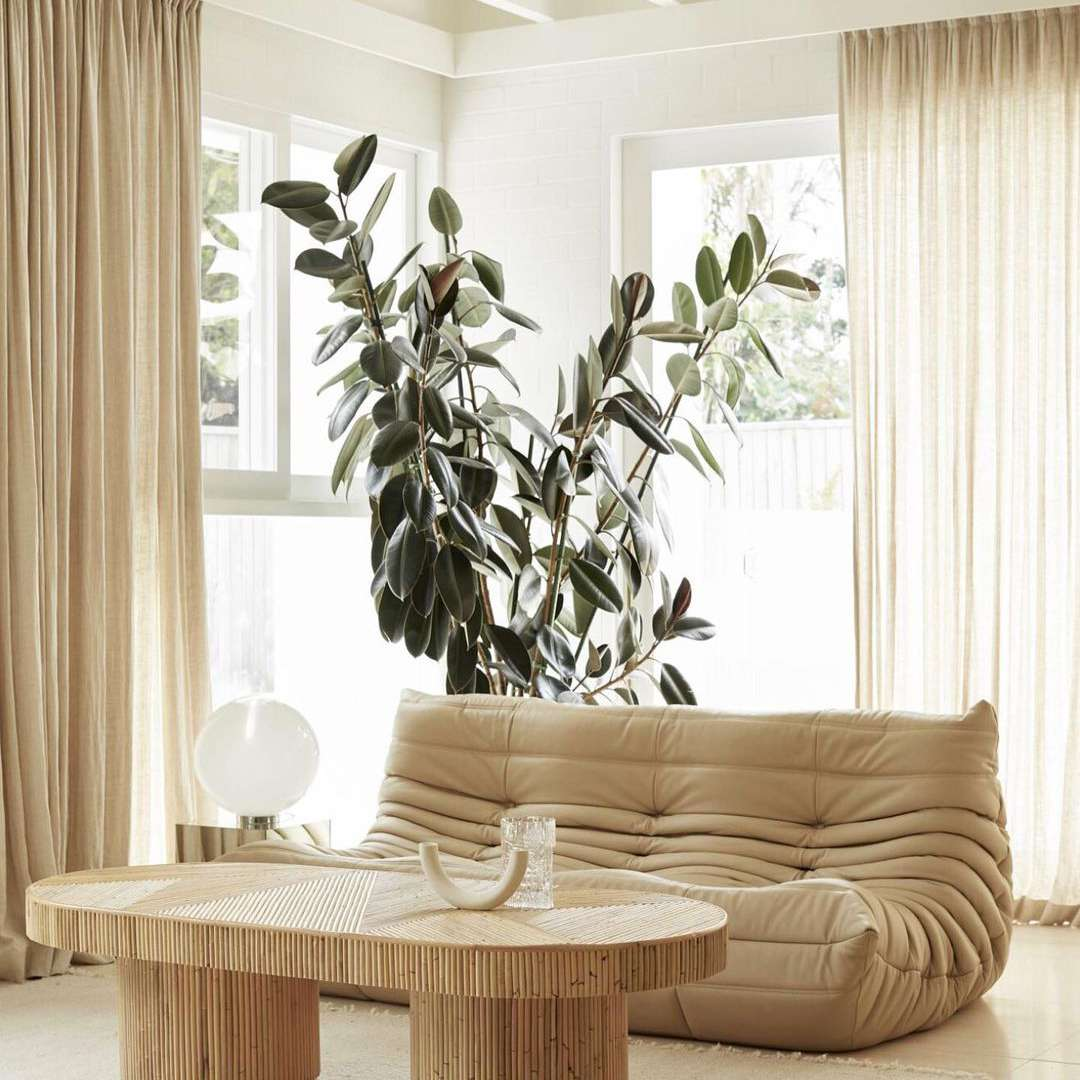 Living room with chunky furniture