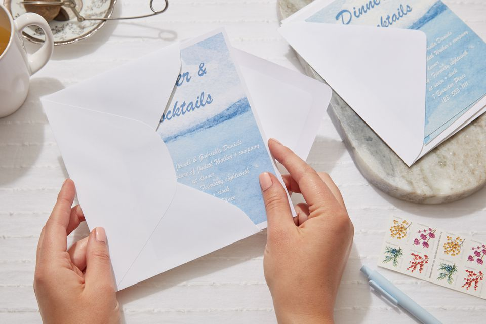 addressing and mailing party invitations