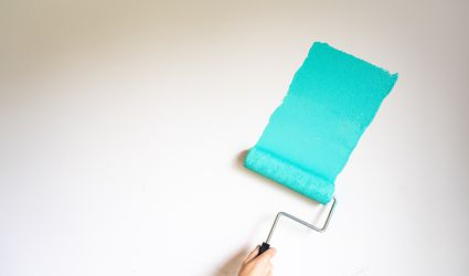Paint Rolling a Wall
