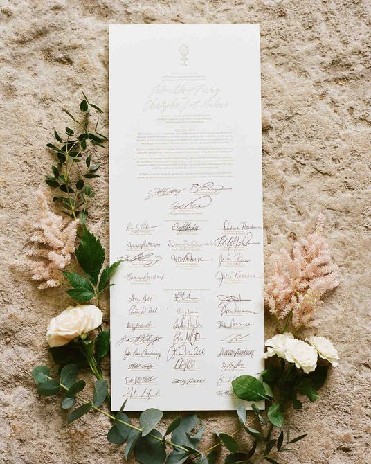 Libro de invitados de boda de Quaker Scroll