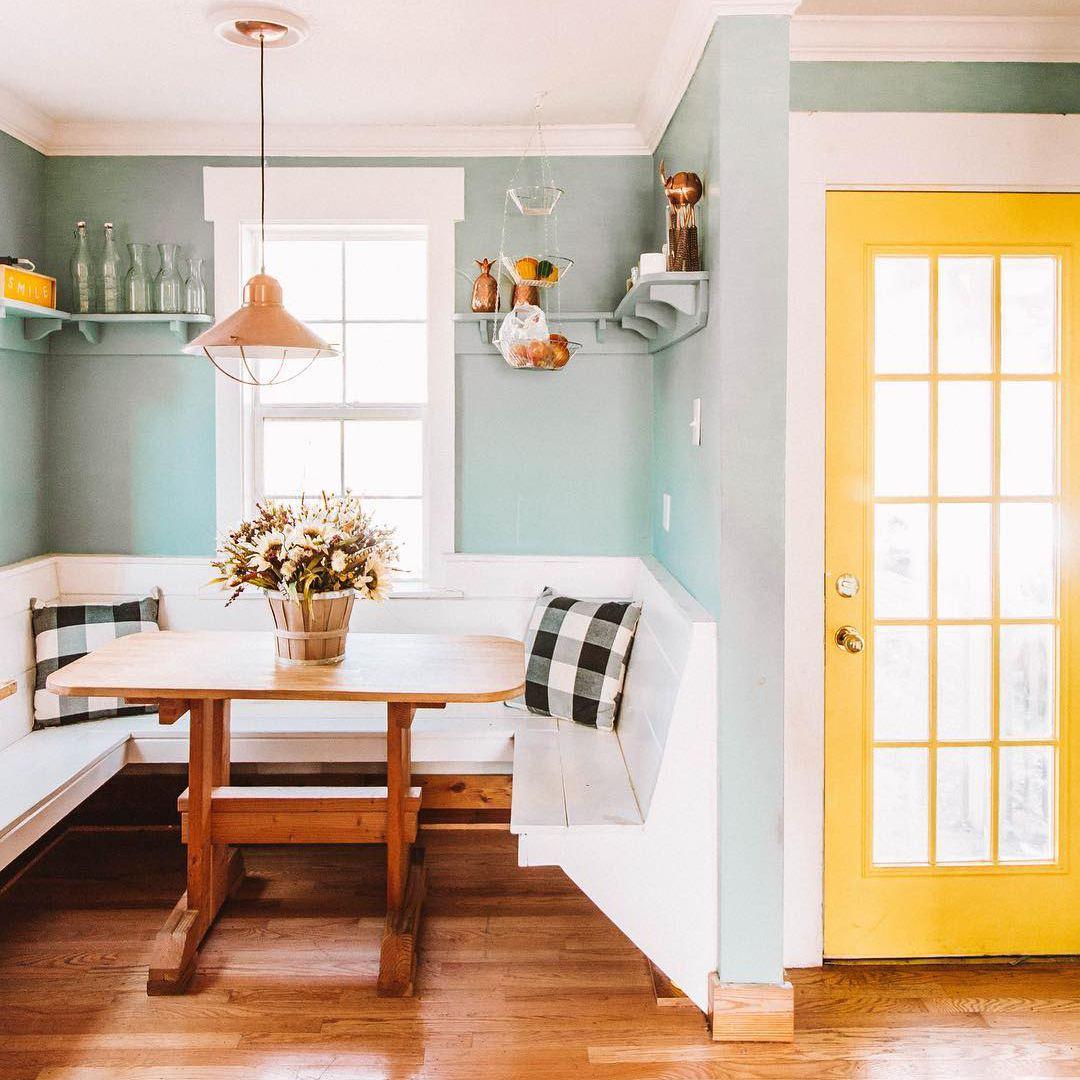 a kitchen dining nook