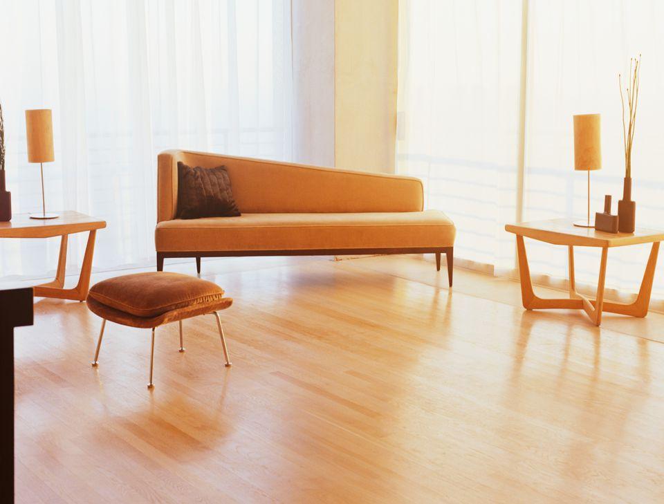 wood floors and furniture