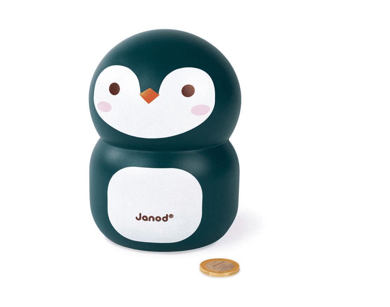 Janod Penguin Money Saving Coin STEM Bank