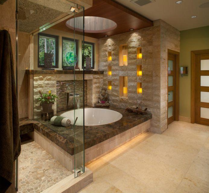 13 Ways to Create a Zen Bathroom Zen Like Bathroom Designs on spa feel bathroom designs, spa like bathroom designs, black and white bathroom designs,