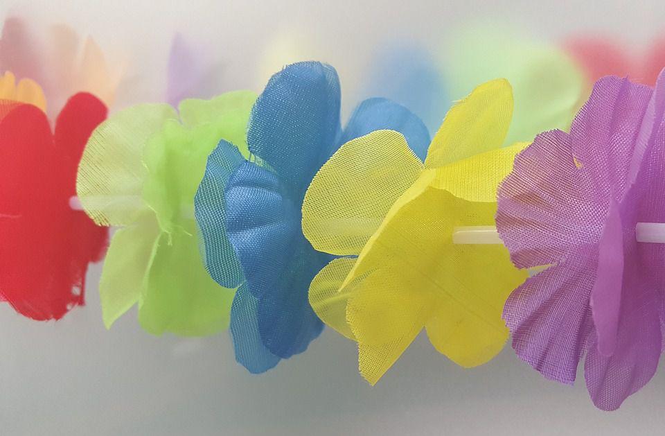 Luau flower garland, lei