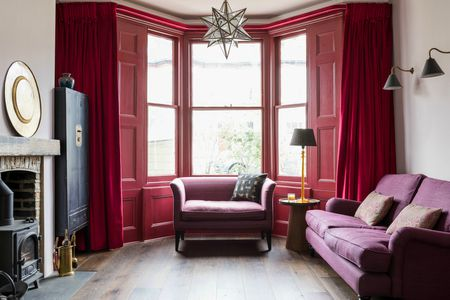 Purple And Red Violet Living Room