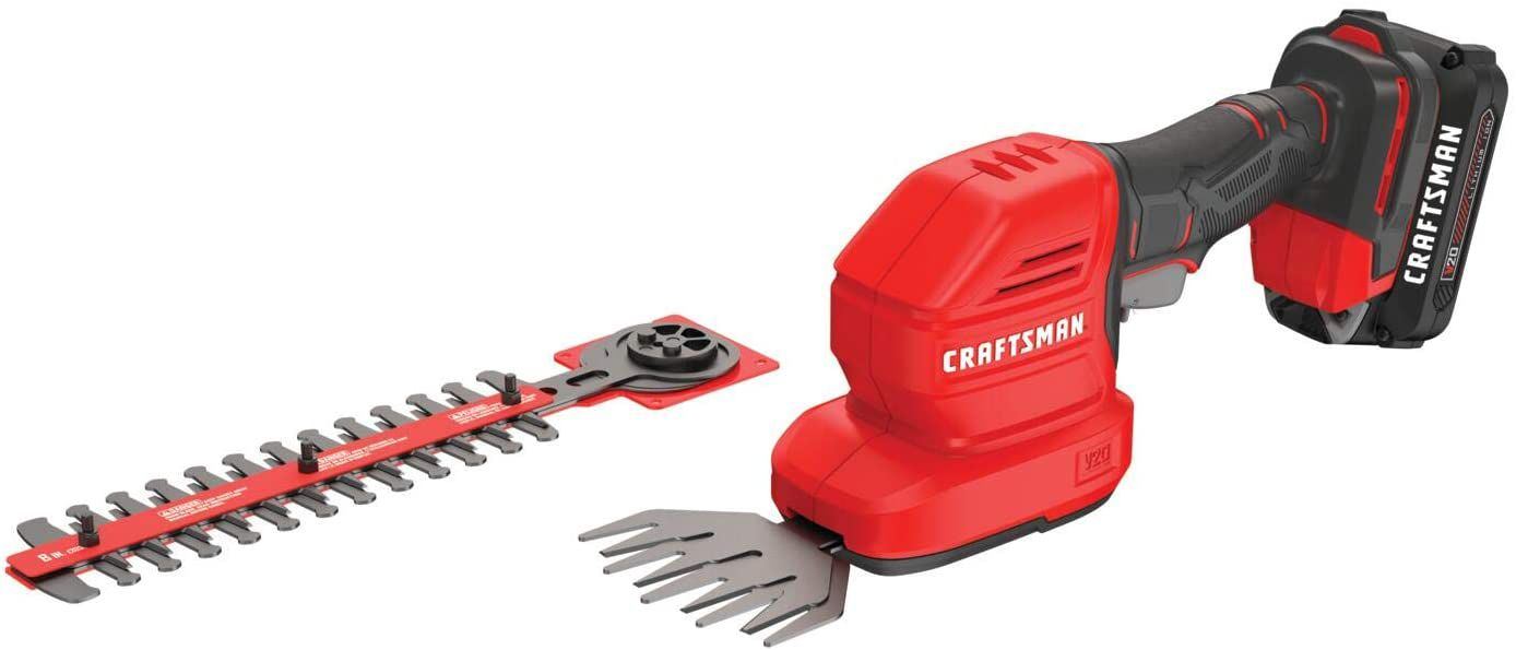 CRAFTSMAN 20-Volt Max 8-in Dual Cordless Electric Hedge Trimmer