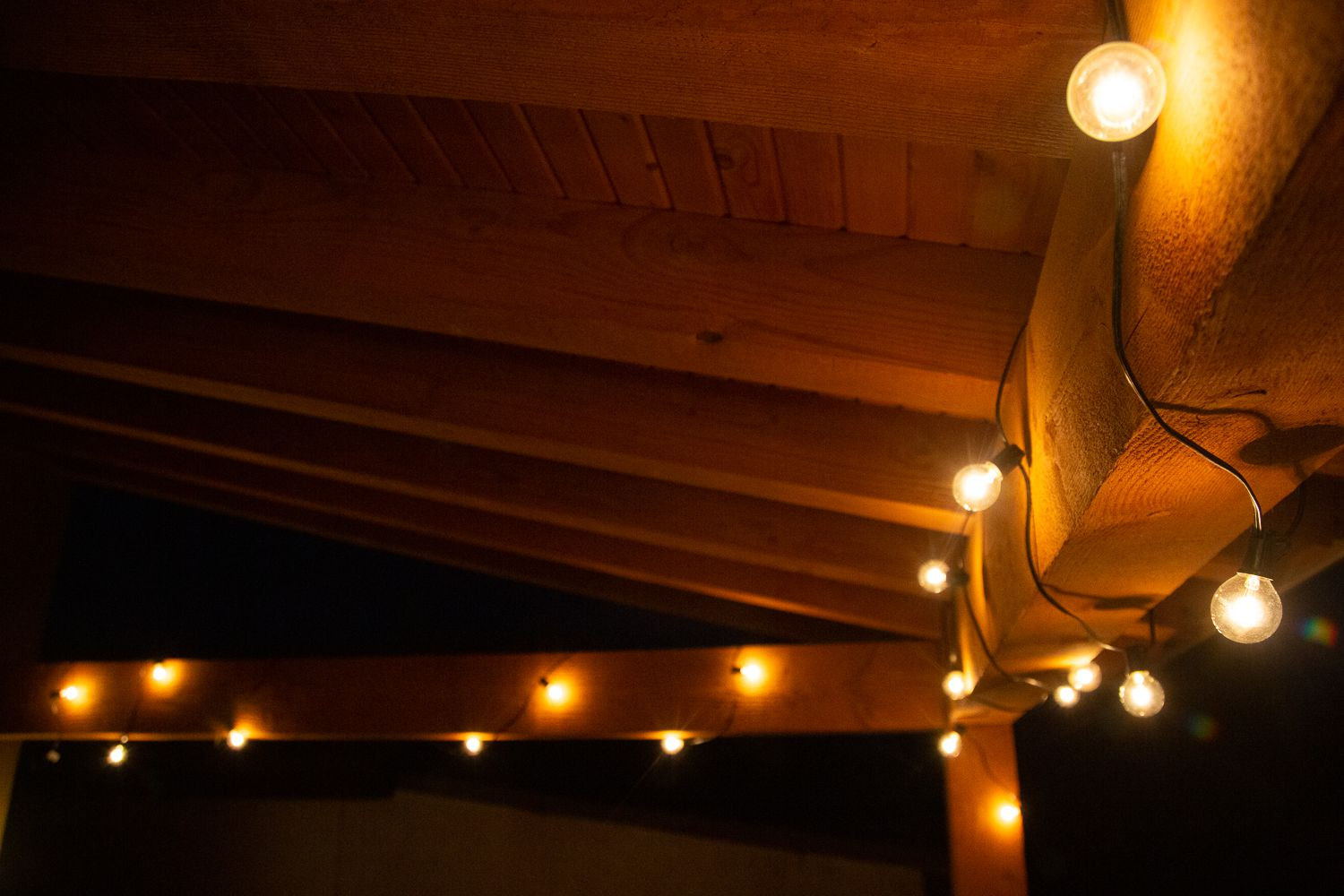 Image of: Outdoor Lighting Store Globe String Lights Review A Nice Warm Glow