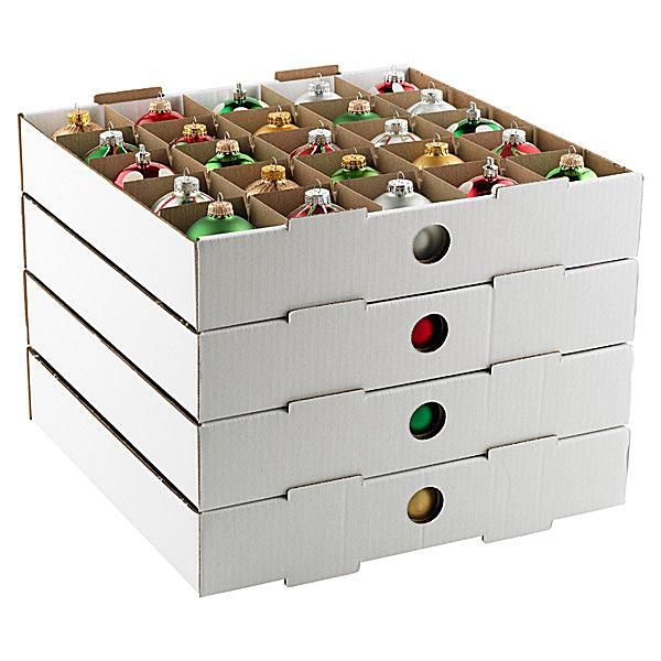 Ornament Storage Trays from the Container Store