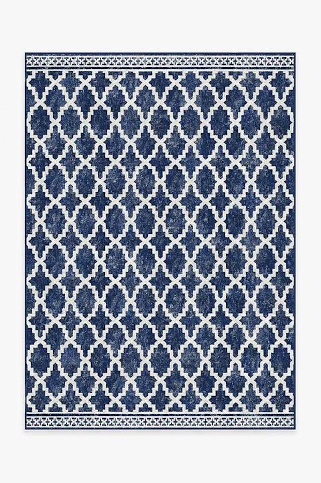 Outdoor Cleo Trellis Royal Blue Rug