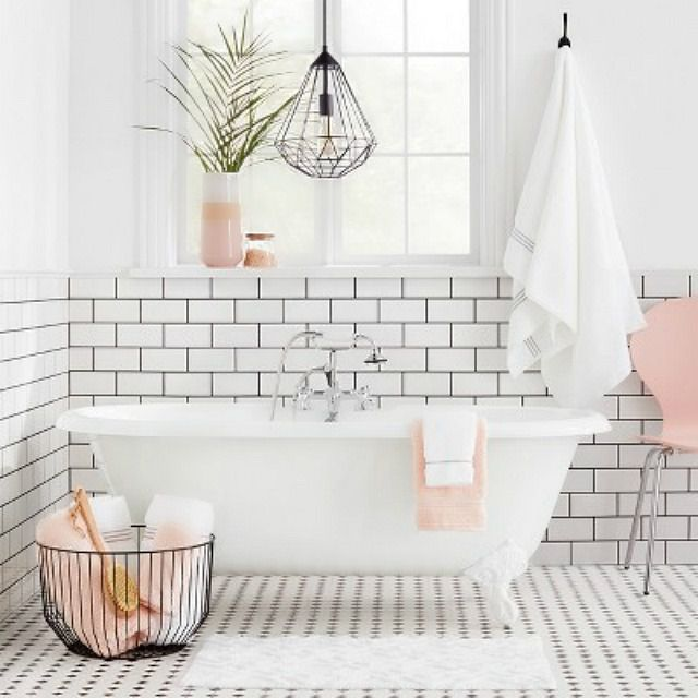 Minimalist White And Pink Bathroom From Target