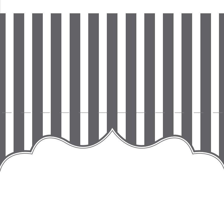 Una tarjeta de lugar de rayas grises y blancas